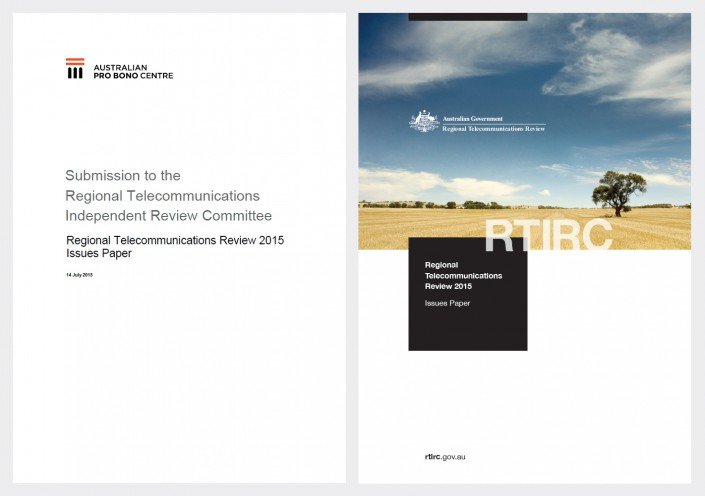 Submission to the Regional Telecommunications Independent Review Committee