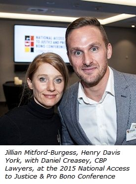 Jillian Mitford-Burgess and Daniel Creasey