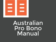 Australian Pro Bono Manual