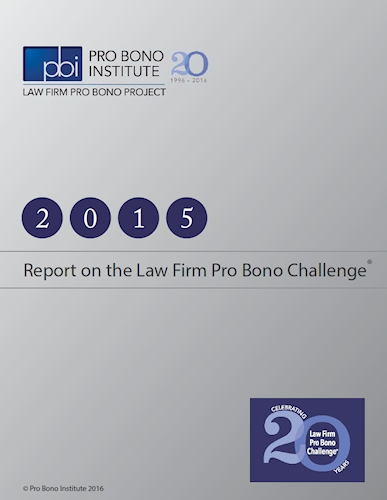 PBI Law Firm Pro Bono Challenge Report 2015