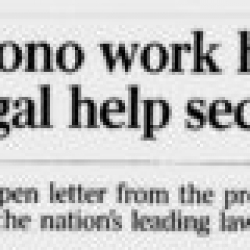 Pro Bono Work Hinges On Legal Help Sector
